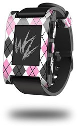 Argyle Pink and Gray – Decal Style Skin fits original Pebble Smart Watch (WATCH SOLD SEPARATELY)