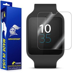 ArmorSuit MilitaryShield – Sony SmartWatch 3 Screen Protector Anti-Bubble Ultra HD & Touch Responsive Shield with Lifetime Replacements