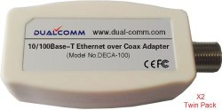 Dualcomm Ethernet over Coax (EoC) Adapters (DECA-100) – Twin Pack