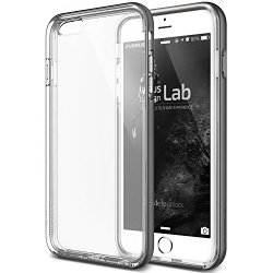 iPhone 6S Plus Case, Verus [Crystal Bumper][Steel Silver] – [Clear][Drop Protection][Heavy Duty][Minimalistic][Slim Fit] – For Apple iPhone 6 Plus and iPhone 6S Plus 5.5″ Devices