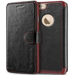 iPhone 6S Plus Case, Verus [Layered Dandy][Black] – [Card Slot][Flip][Slim Fit][Wallet] – For Apple iPhone 6 Plus and iPhone 6S Plus 5.5″ Devices