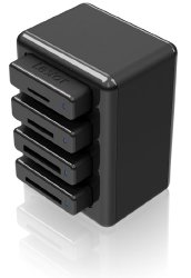 Lexar Professional Workflow HR1 Four-Bay USB 3.0 Reader Hub LRWHR1RBNA