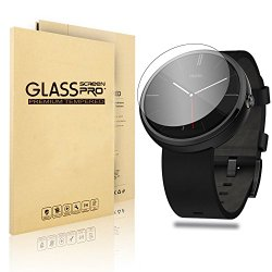 Motorola Moto 360 Watch Screen Protector,VIMVIP® Edge Tempered Glass Smartwatch Protective Film Screen Protector Compatible for Motorola Moto 360 Smart Watch (Moto 360)