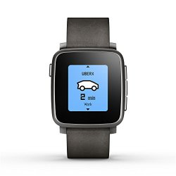 Pebble Time Steel Smartwatch for Apple/Android Devices – Black