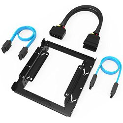 Sabrent 3.5-Inch to x2 SSD / 2.5-Inch Internal Hard Drive Mounting Kit [SATA and Power Cables included] (BK-HDCC)