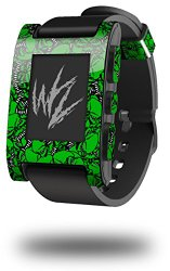 Scattered Skulls Green – Decal Style Skin fits original Pebble Smart Watch (WATCH SOLD SEPARATELY)