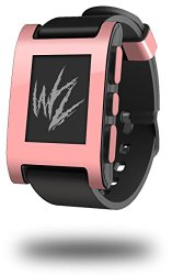 Solids Collection Pink – Decal Style Skin fits original Pebble Smart Watch (WATCH SOLD SEPARATELY)