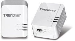 TRENDnet Power Line 1200 AV2 Adapter Starter Kit, 2 Adapters Included with Gigabit Port, Plug and Play, MIMO, Beamforming (TPL-420E2K)