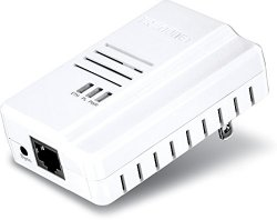 TRENDnet Powerline AV600 Adapter with Gigabit Port, TPL-408E