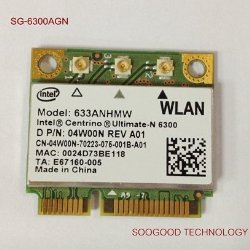 Ultimate-n 6300AGN For Intel Half Pci-e Card 633anhmw 802.11a/b/g/n 2.4 Ghz and 5.0 Ghz Spectra 450 Mbps Support WIDI