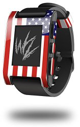 USA American Flag 01 – Decal Style Skin fits original Pebble Smart Watch (WATCH SOLD SEPARATELY)