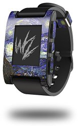 Vincent Van Gogh Starry Night – Decal Style Skin fits original Pebble Smart Watch (WATCH SOLD SEPARATELY)
