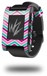 Zig Zag Teal Pink Purple – Decal Style Skin fits original Pebble Smart Watch (WATCH SOLD SEPARATELY)