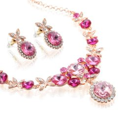 Dancing Butterflies Necklace & Earrings Set in 100% Swarovski Elements Crystals