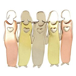 Five Sisters Pin Brooch 5 Mima & Oly Family Best Friend