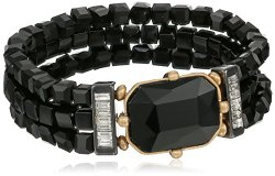 Kenneth Cole New York Geometric Faceted Bead Stretch Bracelet, 3″