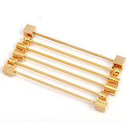 HJ Men's Jewelry 6 Pc Collar Bar Pin Set, Gold Tone Barbell Assorted Styles by HJ