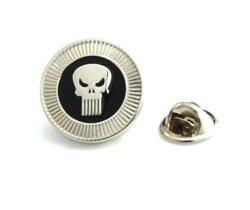 Punisher Skull Frank Castle Lapel Pin Tack Tie