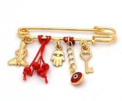 The Little Prince Baby Pin Luck Charms in Red