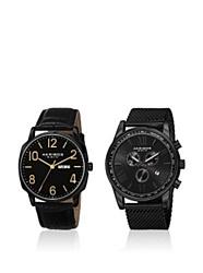 Akribos XXIV Men's AK885BK Quartz Movement Analog Display Black Watch Gift Set
