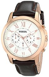 Fossil Men's FS4991 Grant Chronograph Leather Watch – Brown