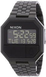 Nixon Re-Run Black Dial Stainless Steel Mens Watch A158001-00