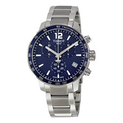 Tissot Quickster Chronograph Blue Dial Stainless Steel Mens Sports Watch T0954171104700