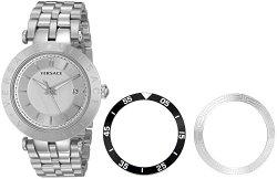 Versace Men's VQP060015 V-Race Analog Display Quartz Silver Watch