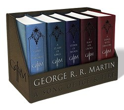George R. R. Martin's A Game of Thrones Leather-Cloth Boxed Set (Song of Ice and Fire Series): A Game of Thrones, A Clash of Kings, A Storm of Swords, A Feast for Crows, and A Dance with Dragons