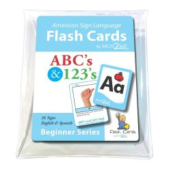 American Sign Language for Beginners – Flashcards: in ABCs & 123s Pack in Vinyl Pouch