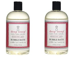 Deep Steep Bubble Bath, Passion Fruit Guava, 2 Pack of 17.5 Ounce