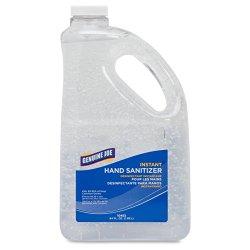 Genuine Joe GJO10452 Moisturizing Hand Gel Sanitizer, 2 qt Pump Bottle, Clear