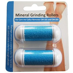 Refill Rollers for Care me Callus Remover – Fit Battery-Operated CM-101 & Rechargeable CM-201 Models – Two Super Coarse Roller designed for Tough & Rough Calluses – pack of 2