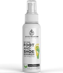 Rocky Mountain Essentials Natural Foot and Shoe Deodorizer for Athletes, Sweet Peppermint, 4 oz.