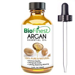 Organic Argan Oil for Hair, Face & Skin – 100% Pure, Natural, Cold Pressed – Certified Organic Virgin Oil From Morocco – Anti-Aging, Anti-Oxidant moisturizer – 100ml (3.4 fl.Oz)