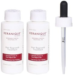 Keranique Hair Regrowth 3-Piece Treatment Set For Women, 2 fl. Oz each, Two Month Supply