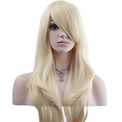 YOPO 28″ Wig Long Big Wavy Hair Women Cosplay Party Costume Wig(Light Blonde)