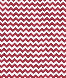 SheetWorld Fitted Cradle Sheet – Red Chevron Zigzag – Made In USA