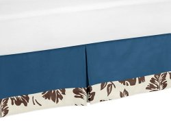 Tropical Hawaiian Bed Skirt for Surf Toddler Bedding Sets by Sweet Jojo Designs
