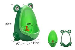 Zyurong Colorful Frog Potty Toilet Training for Boys Pee Trainer Bathroom Kids Urinal with Whirling Target Strong Sucker (Green)
