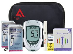 active1st TrueTest Complete Diabetes Testing Kit, 100 Count (TrueResult Meter, 100 Test Strips, 100 30g Lancets, Lancing Device, Control Solution, Owners Manual/Log Book)