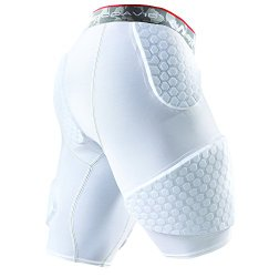 McDavid Hex Short with Contoured Wrap Around Thigh, X-Large, White