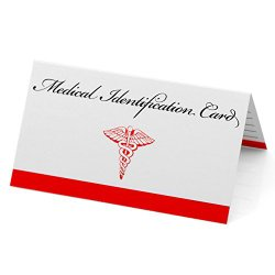 Medical ID Emergency Wallet Card