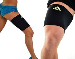 MyProSupports Thigh Compression Sleeve (Black, Small)