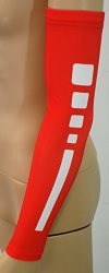 NEW! Sports Farm Athletic Shooter Sleeves (Youth Medium, Red/White)