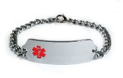 TAKING XARELTO Medical ID Alert Bracelet with Embossed emblem from stainless steel. Style: Classic wide, premium series.