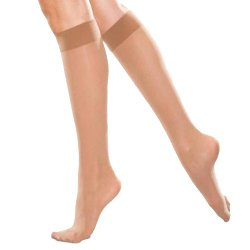 Therafirm Women's Sheer Knee-High, Sand, Large