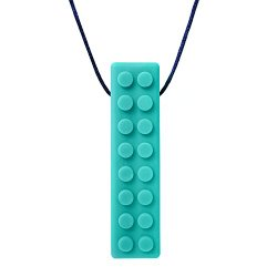 ARK's Brick Stick XT Textured Chew Necklace Made in the USA Chewelry (Teal, Extra Tough)
