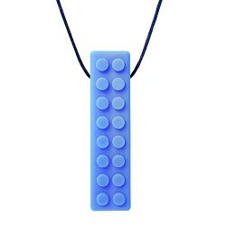 ARK's Brick Stick XXT Textured Chew Necklace Made in the USA Chewelry (Blue, Extra Extra Tough)