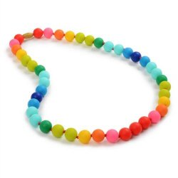 Teether – Rainbow Silicone Teething Nursing Necklace for Mom & Baby – BPA free – Organic Food Grade Silicone – Latex Free